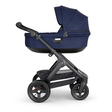 STOKKE® Kinderwagen Trailz™ Black/Black mit Geländerädern und Babyschale Deep Blue