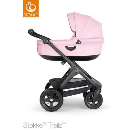 STOKKE® Kinderwagen Trailz™ Black/Black mit Geländerädern und Babyschale Lotus Pink