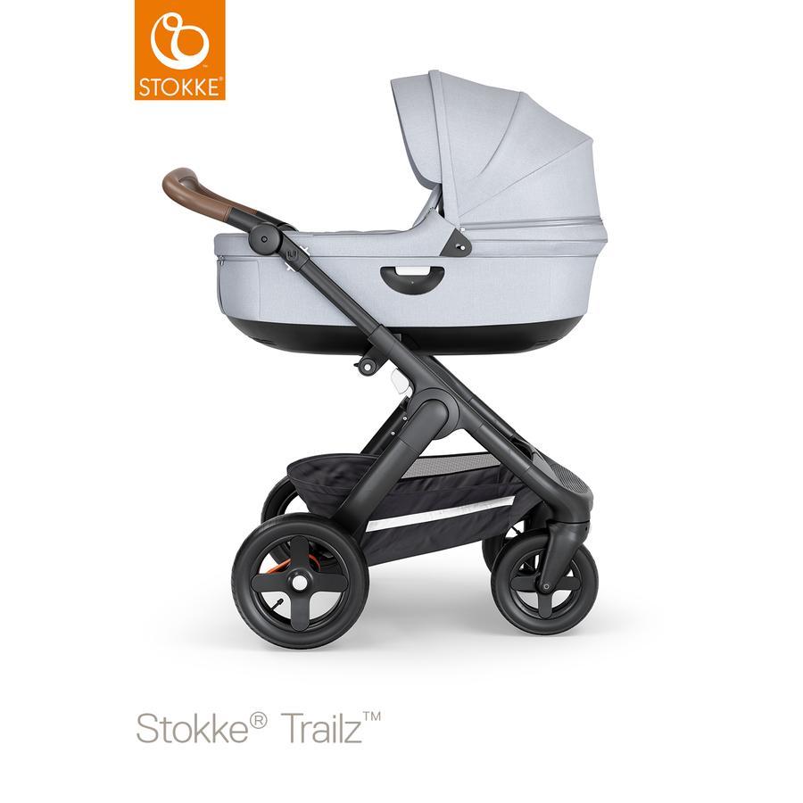 STOKKE® lastenrattaat Trailz™ sis. maastorenkaat ja turvakaukalon, musta/ruskea/harmaa