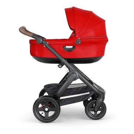 STOKKE® Kinderwagen Trailz™ Black/Brown mit Geländerädern und Babyschale Red