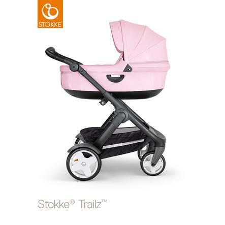 STOKKE® Kinderwagen Trailz™ Black/Black mit Klassikrädern und Babyschale Lotus Pink