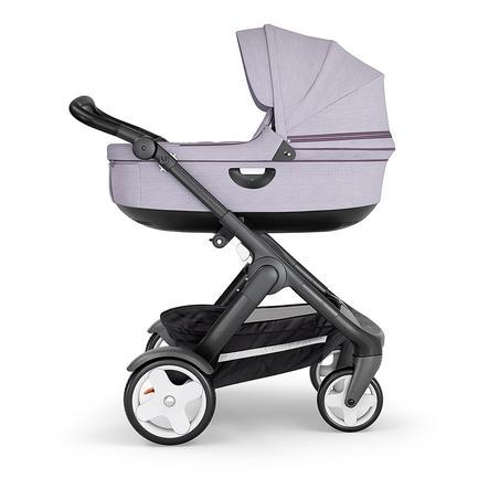 STOKKE® Kinderwagen Trailz™ Black/Black mit Klassikrädern und Babyschale Brushed Lilac