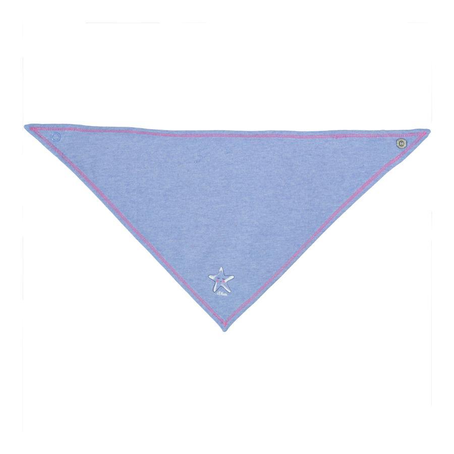s.Oliver Girl s sciarpa triangolare melange azzurro chiaro melange