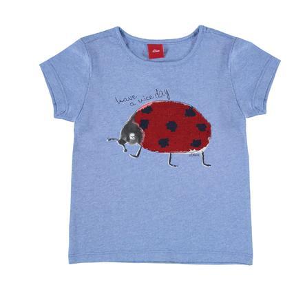 s.Oliver Girl s T-Shirt azzurro melange