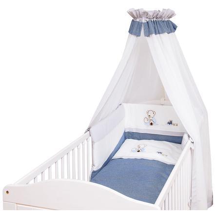 BeBes Collection Parure de lit enfant Oskar bleu 3 pièces