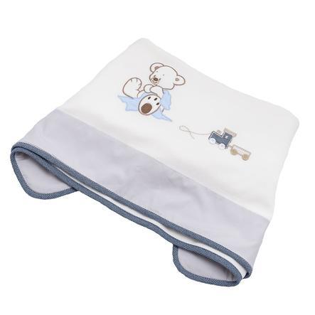 Wees 's - knuffeldoekje Collection Nicki deken Oskar blauw