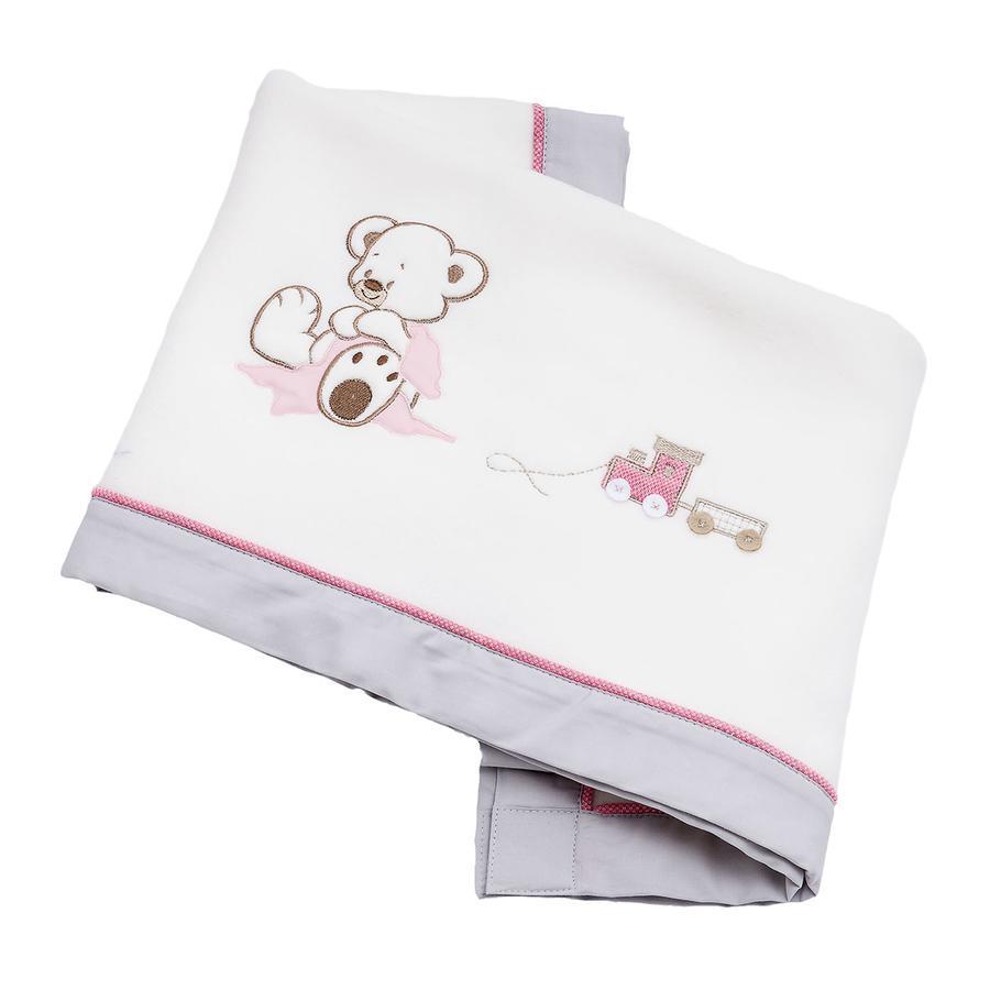 Be's Collection Fleece Blanket.  Oskar rosa