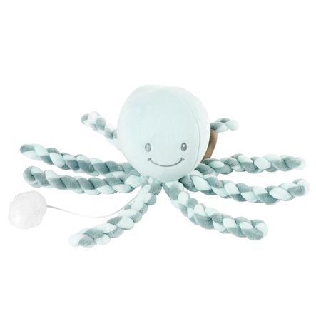 Nattou Lapidou - Muziekknuffel octopus, kopergroen-mintgroen