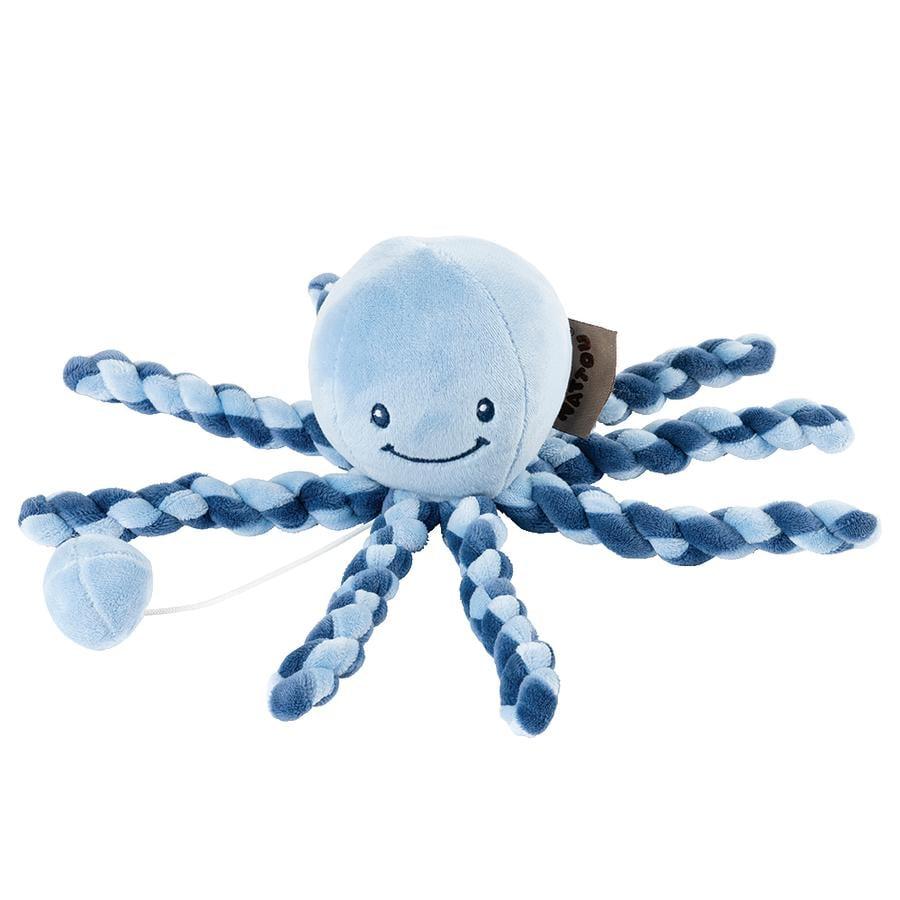 Nattou Lapidou - Spieluhr Krake, marineblau / hellblau