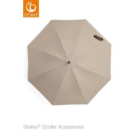 STOKKE® Kinderwagen Sonnenschirm Beige Melange 50+ UV-Schutz
