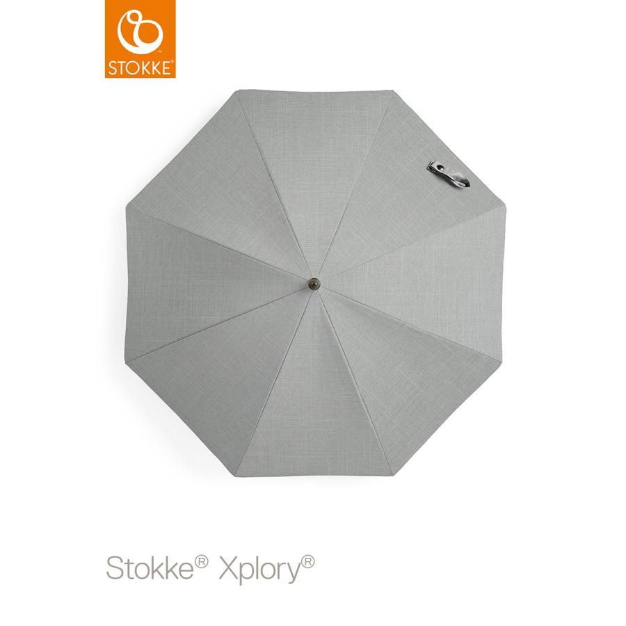 STOKKE® Kinderwagen Sonnenschirm Grey Melange 50+ UV-Schutz