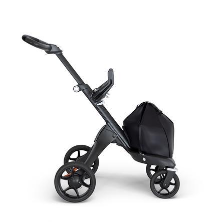 STOKKE® Gestell Xplory® V6 Black mit schwarzem Kundleder Griff