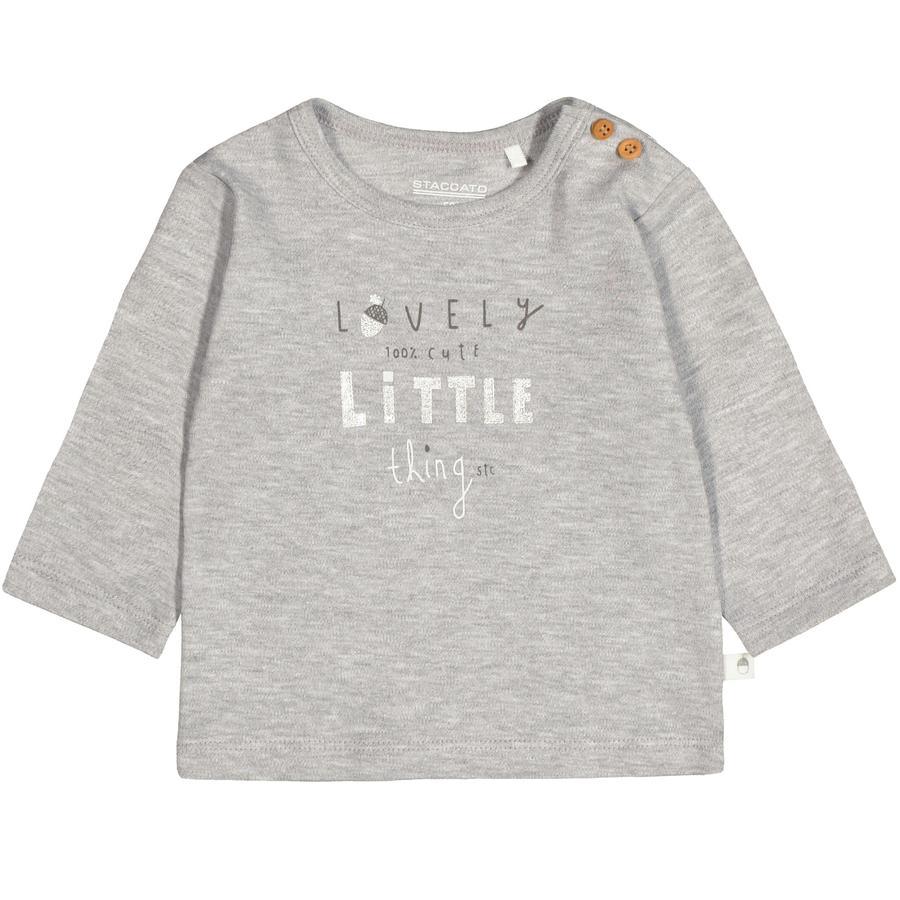 STACCATO Camisa manga larga gris mélange