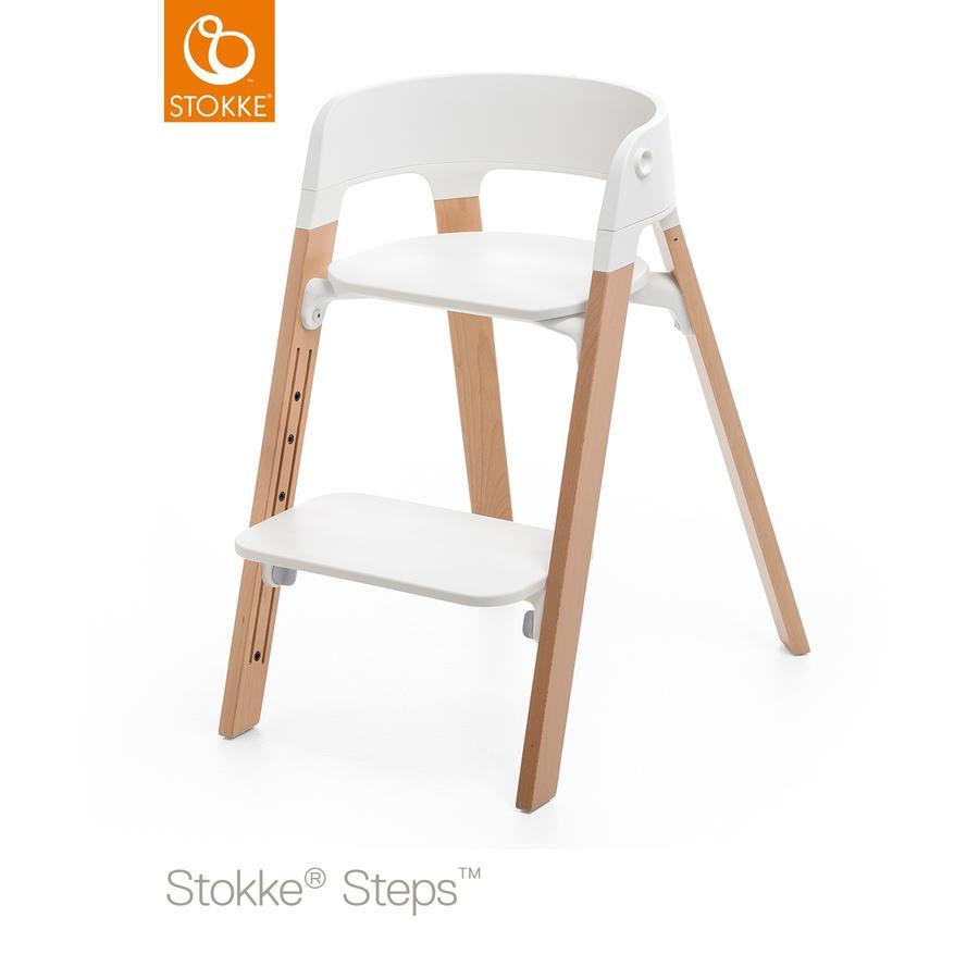 STOKKE® Steps™ Hochstuhl weiß Buche natur