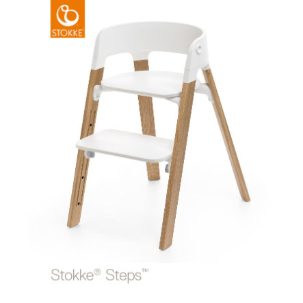 STOKKE® Steps™ Hochstuhl weiß Eiche natur