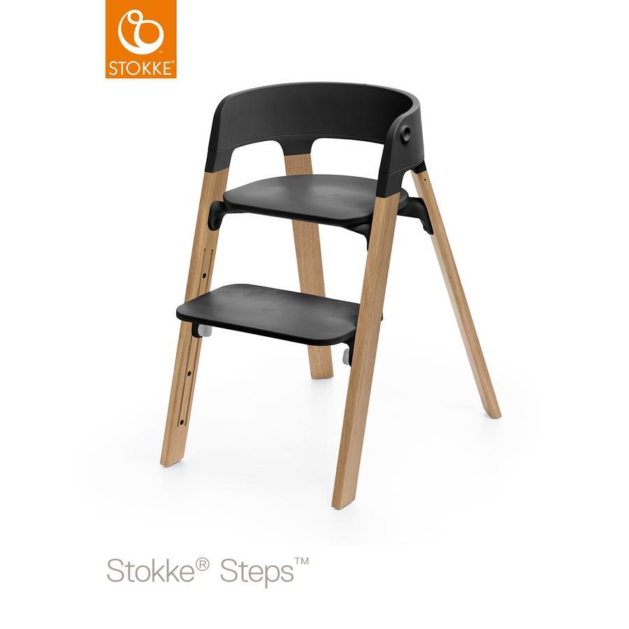 STOKKE® Steps™ Hochstuhl schwarz Eiche natur