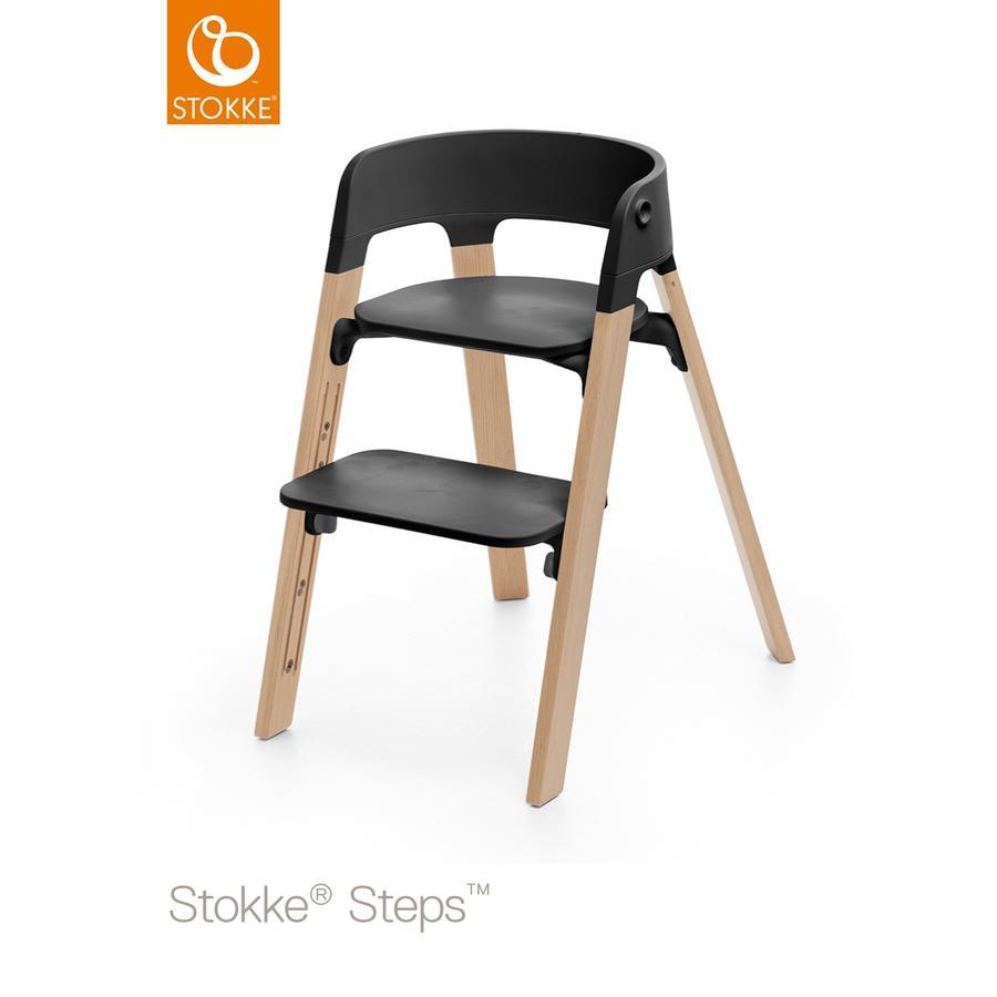 STOKKE® Steps™ Hochstuhl schwarz Buche natur