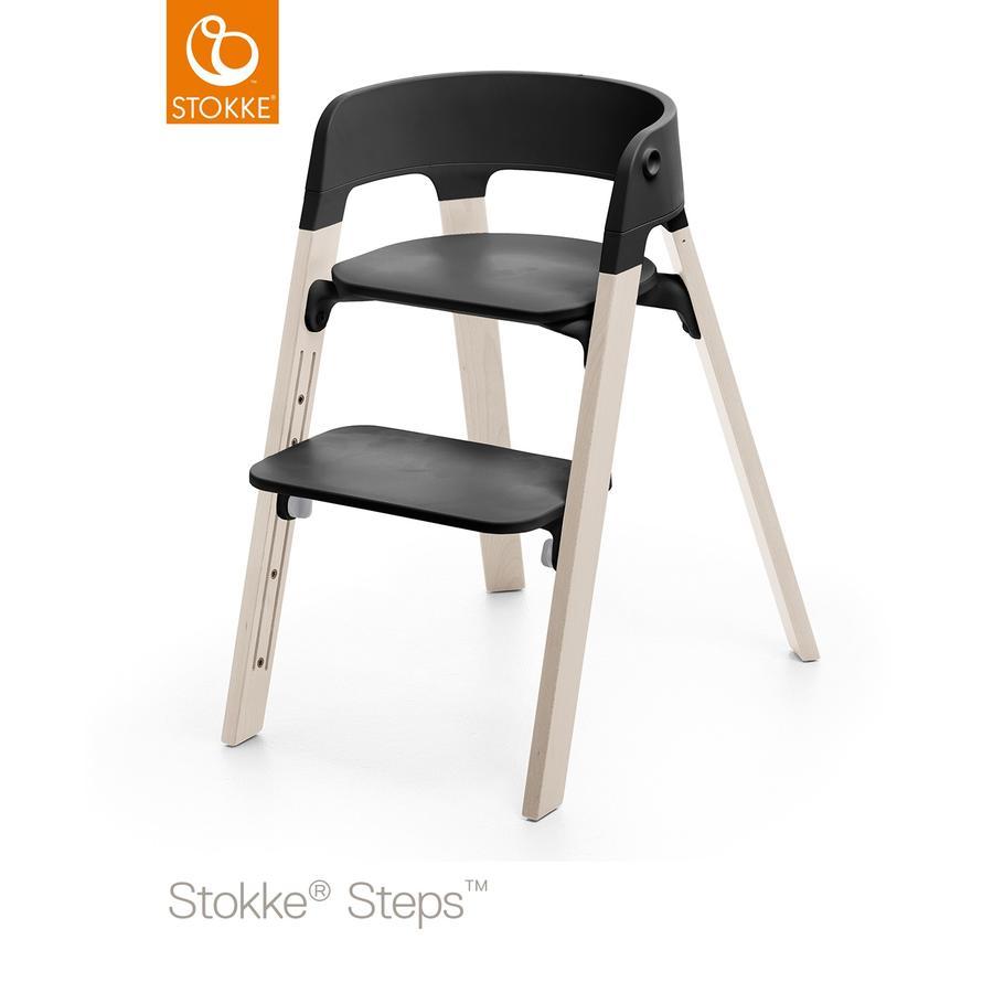 STOKKE® Steps™ Hochstuhl schwarz Buche White Wash