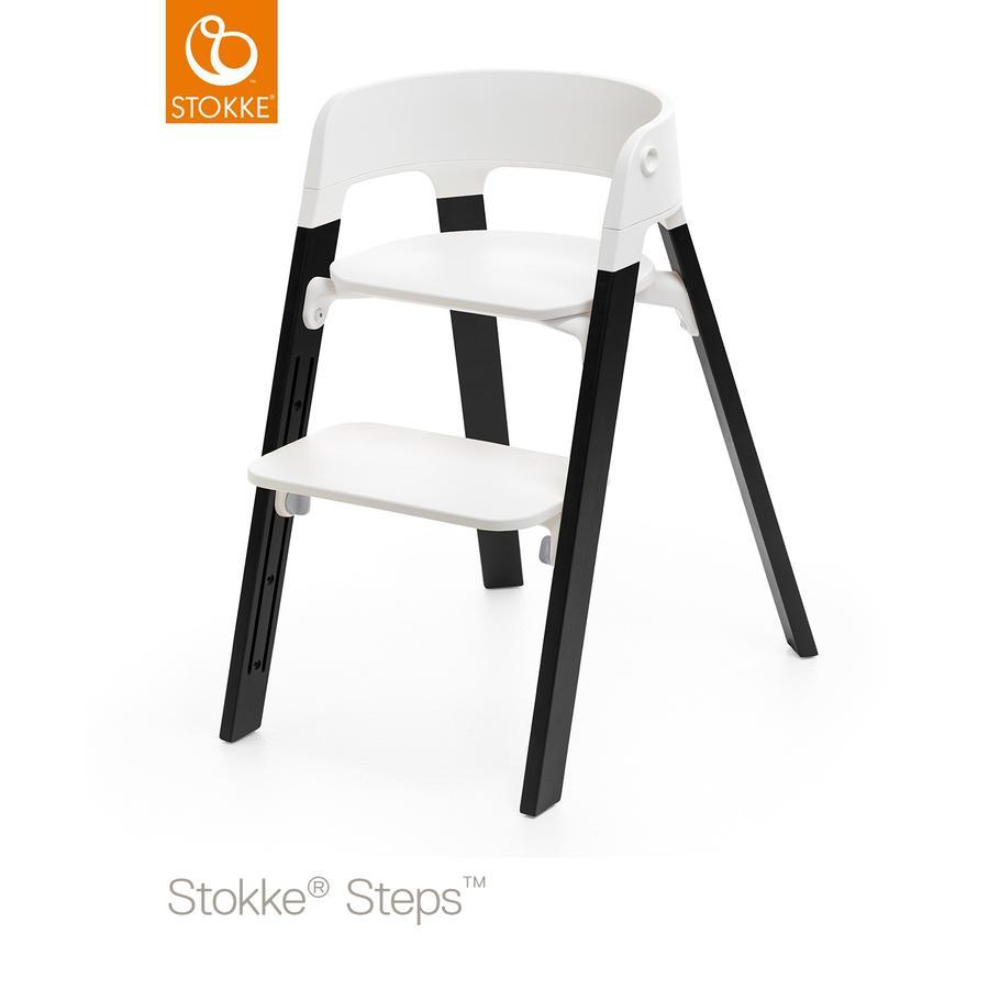 STOKKE® Steps™ Hochstuhl weiß Eiche schwarz