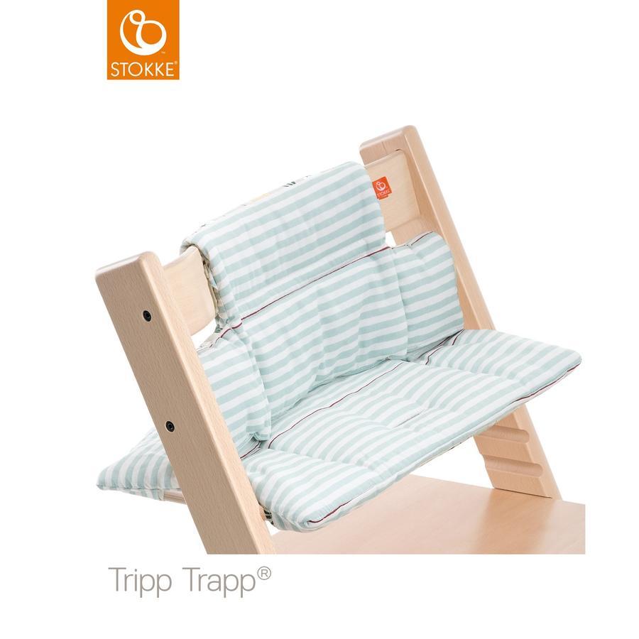 STOKKE® Tripp Trapp® Classic Baby Sitzkissen Aqua Stripes beschichtet