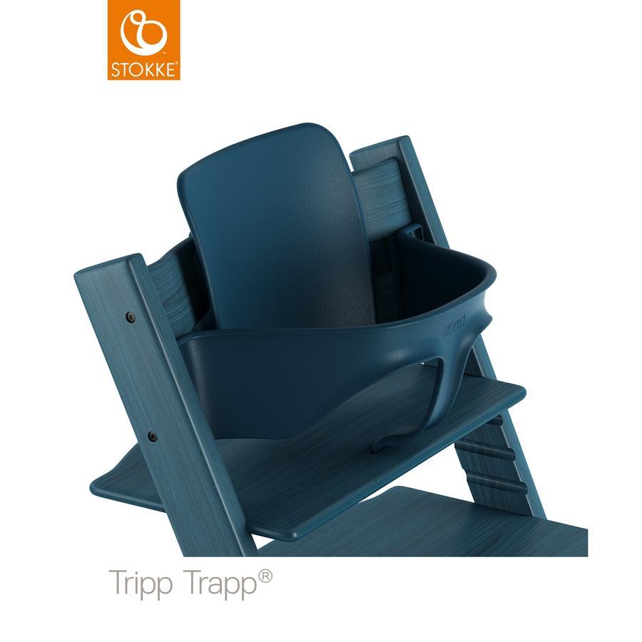stokke tripp trapp baby set midnight blue. Black Bedroom Furniture Sets. Home Design Ideas