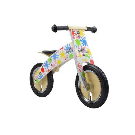 kiddimoto® Premium Laufrad - Farbkleckse