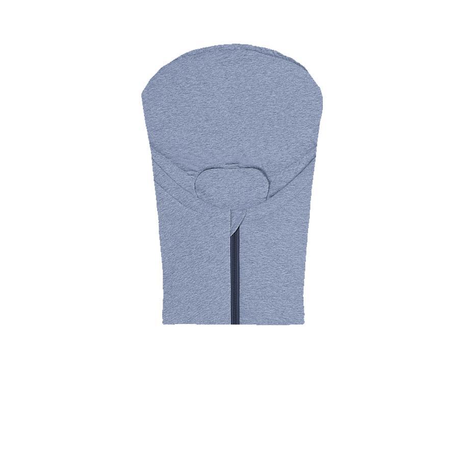 odenwälder kørepose Jersey til babyautostol melange blå