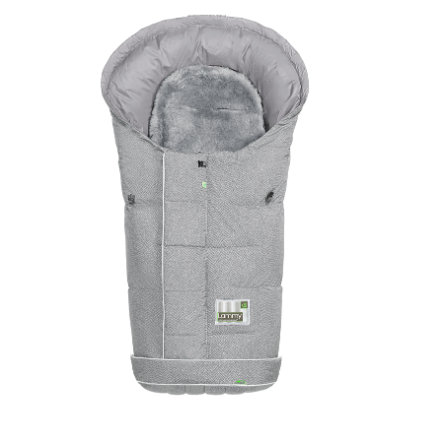 odenwälder Fußsack Lammy New Woven soft grey