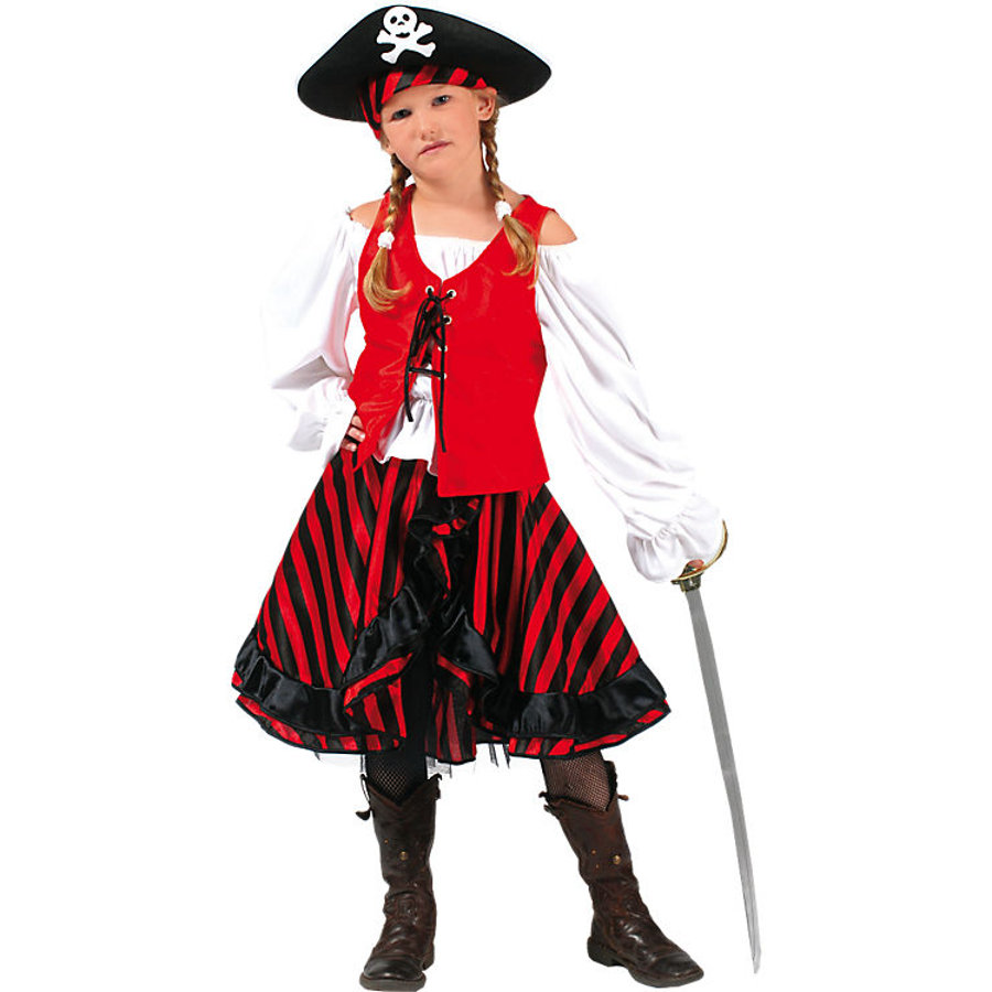 FUNNY FASHION Karneval Kostüm Piratin Jacky