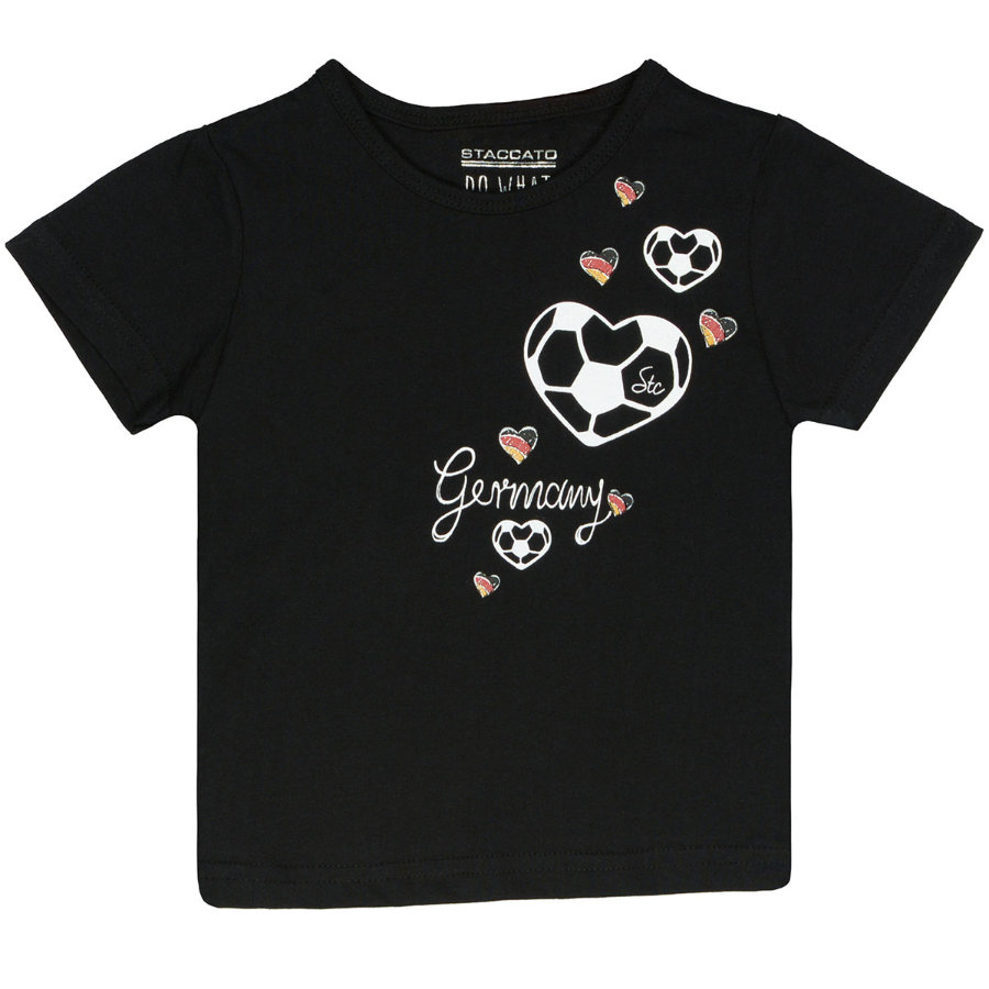 STACCATO Girls T-Shirt schwarz