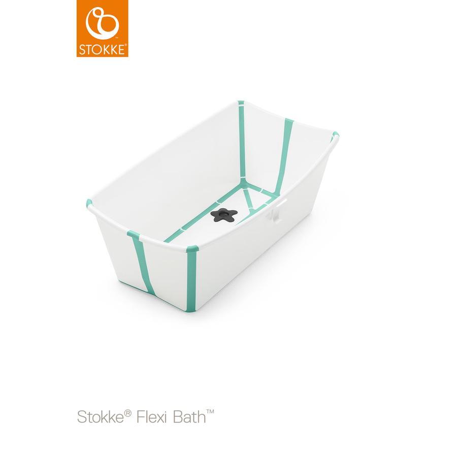 STOKKE® Babywanne Flexi Bath® weiß / aqua ab der Geburt