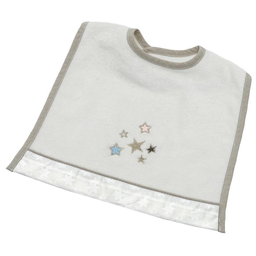 Wees 's Collection klittenband Bib Glitter Sterren ecru zijn