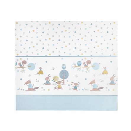 JULIUS ZÖLLNER Fóliová přebalovací podložka plochá Happy Animals modrá 75 x 85 x 4 cm