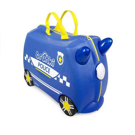 trunki Valise roulettes enfant voiture de police Percy bleu
