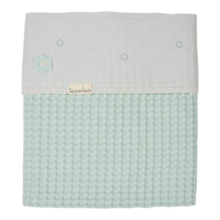 koeka Kinderdecke Love me Sweet misty mint 100 x 150 cm