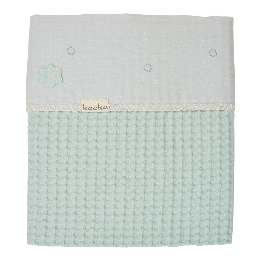 koeka Couverture bébé Love me Sweet misty mint 100 x 150 cm