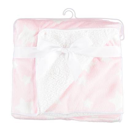 HAT & CO estrellas de manta destellantes 75x pink 100 cm