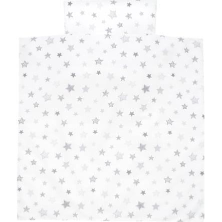 ALVI Vuodevaatteet, 80 x 80 cm, tähdet hopeanharmaa