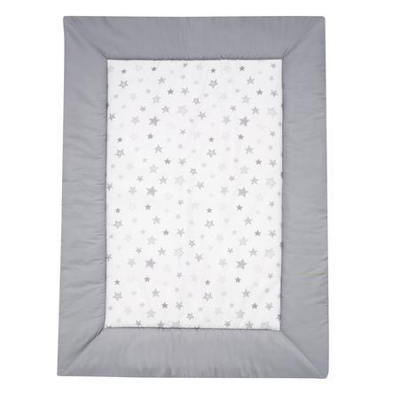 Alvi Krabbeldecke Sterne silbergrau Exklusiv 100 x 135 cm