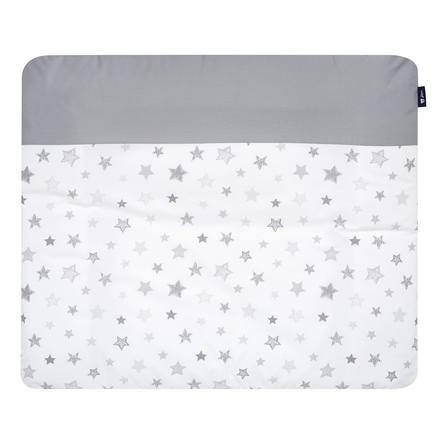 Alvi skiftematte deksel 85 x 70 cm, stjerner sølvgrå Eksklusiv