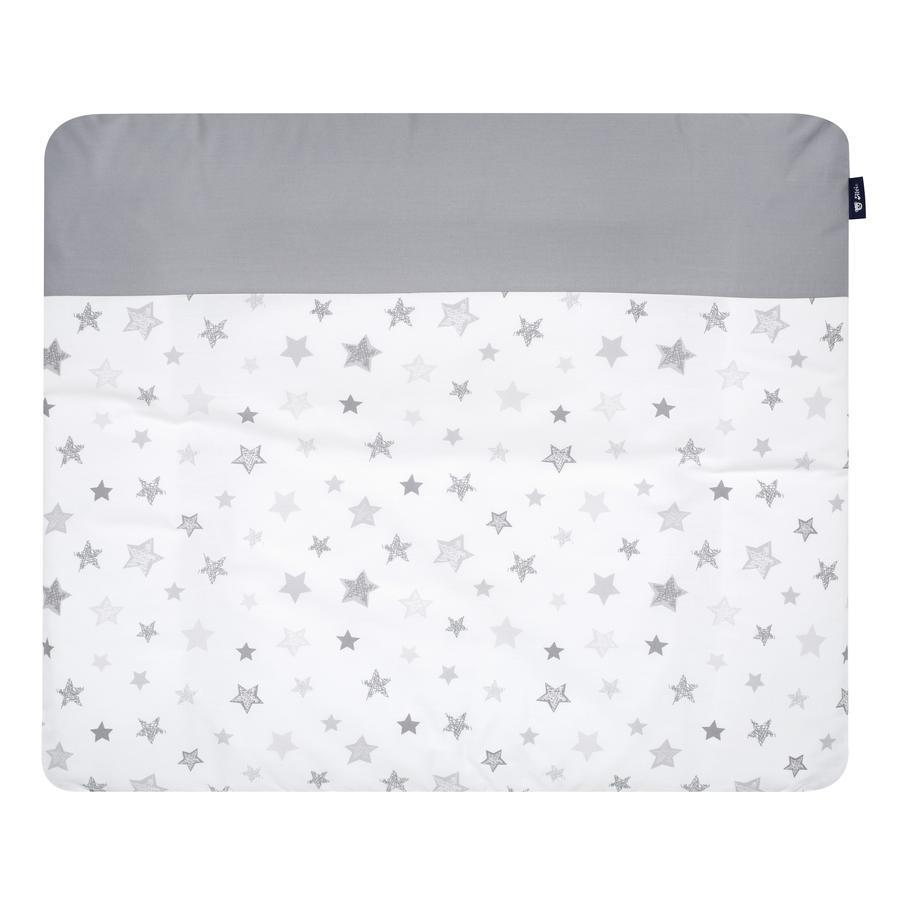 Alvi Skötbäddsöverdrag Stars grey Exklusiv  70 x 85 cm