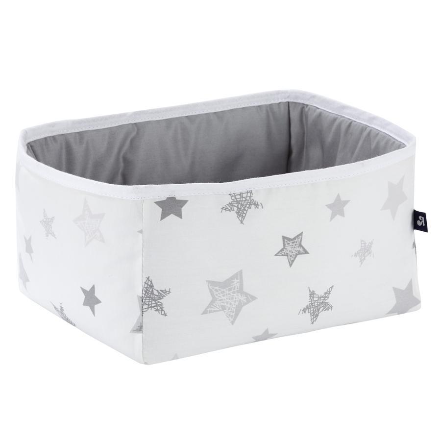 Alvi Opbergbox Star zilvergrijs