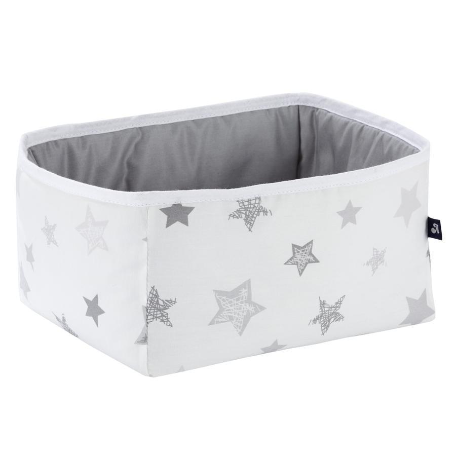 Alvi úložný box hranatý hvězdy stříbrná/šedá Exklusiv