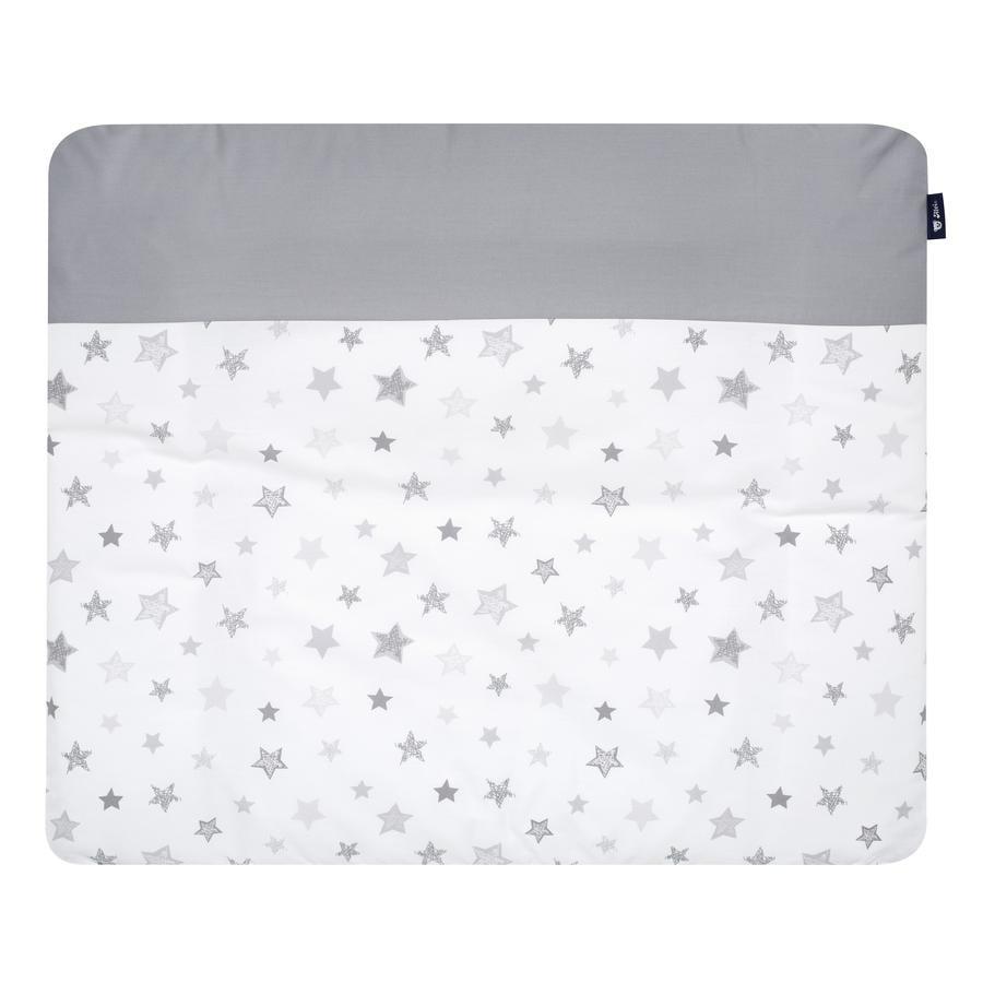 Alvi Set materassino fasciatoio - Stelle grigio argento 70 x 85 cm