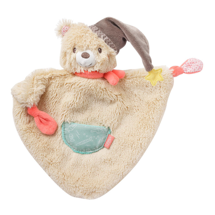 fehn® Knuffeldoek beer, klein
