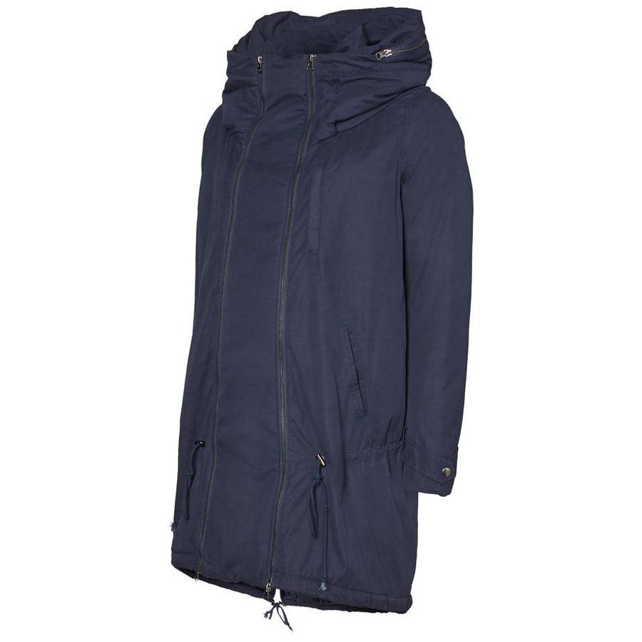 mama licious Těhotenský kabát TIKKA Carry Me navy