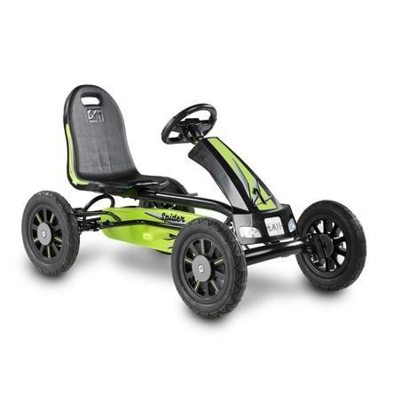 EXIT Pedal Go-Kart Trampbil Spider - grön/svart