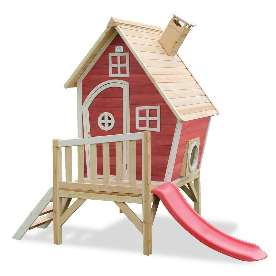 EXIT Drewniany domek zabaw Fantasia 300, czerwony