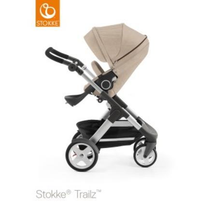 STOKKE® Trailz™ Kinderwagen mit Klassikrädern inklusive Sitz Beige Melange