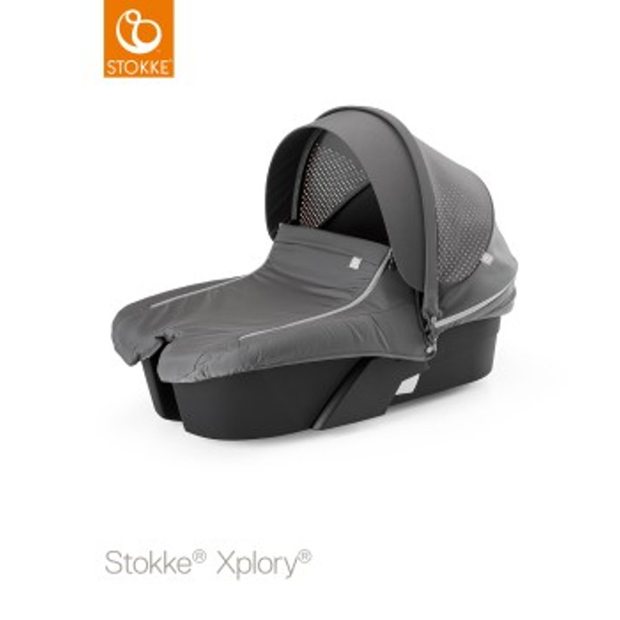 STOKKE® Xplory® Black Babyschale athleisure grey